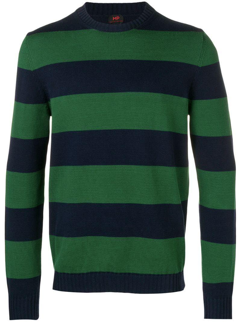Mp Massimo Piombo Striped Jumper Farfetch Striped Jumper Mens Winter Sweaters Striped Sweater Outfit [ 1067 x 800 Pixel ]