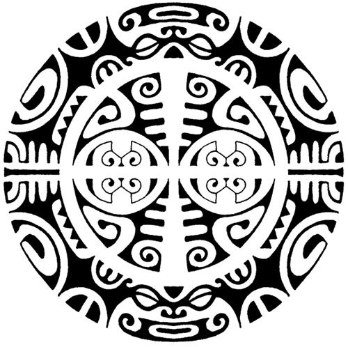 Polynesian Designs And Patterns Round Polynesian Tattoo Round - Dibujos-maoris