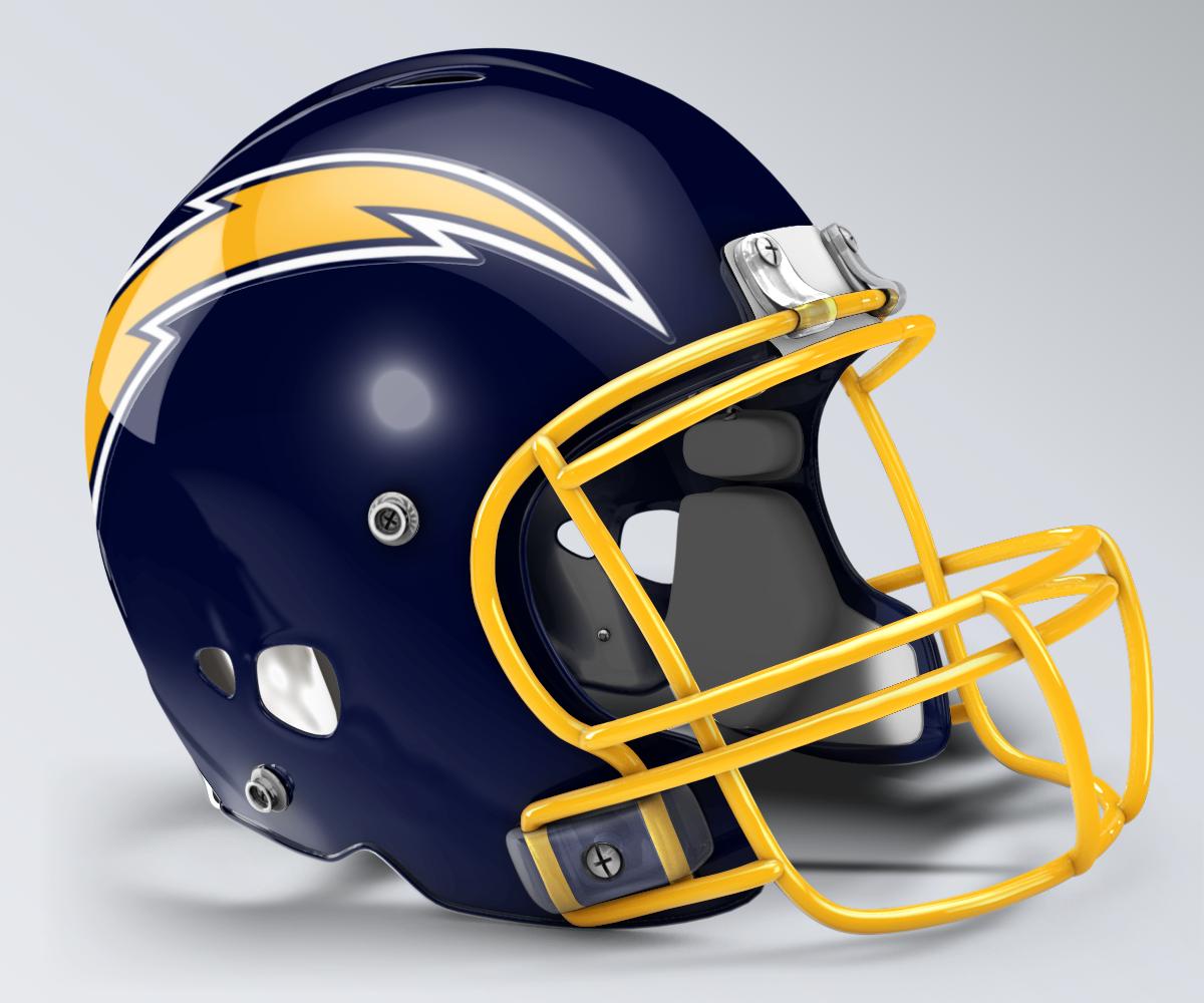 brand new 69eb7 10691 San Diego Chargers Throwback Helmet | 1980s Era NFL Helmets ...