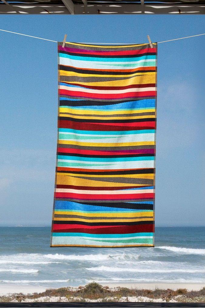 Next Multi Striped Beach Towel Pink Beach Towel Towel Beach