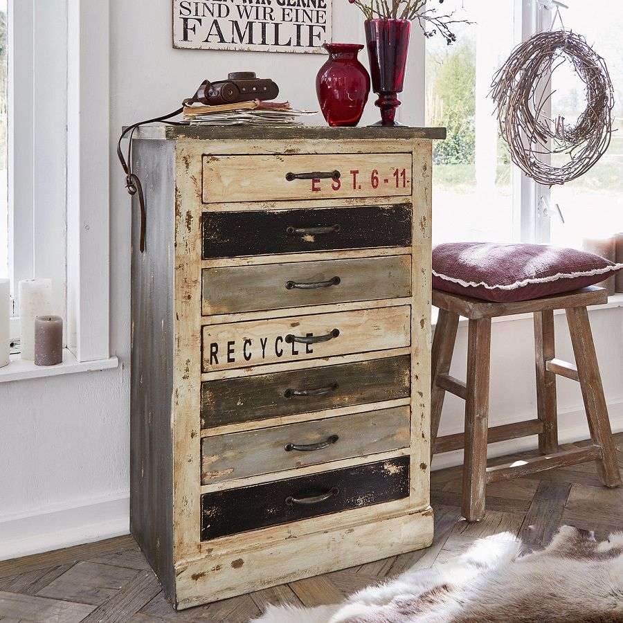 Commode Chambre Style Industriel commode tilbury style industriel pas cher - commode loberon