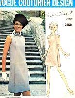 Photo of 1960s ELEGANT Mod Forquet Dress Pattern VOGUE Couturier Design 23