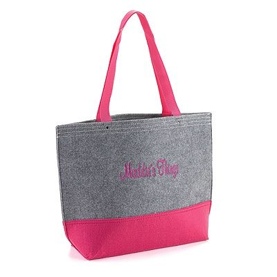 Color Block Felt Tote Bag in Raspberry and Grey personalized gift idea! http://partyblock.carlsoncraft.com/Wedding/Wedding-Party-Gifts/ZB-ZBKX50102P-Color-Block-Felt-Tote-Bag--Raspberry-and-Grey.pro bridesmaid gift idea