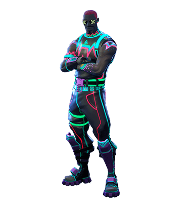 Liteshow Fortnite Skin Neon Light Outfit Fortnite Epic Games Fortnite Skin