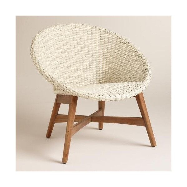 Cost Plus World Market Round All Weather Wicker Vernazza Chairs Set Of Brl Liked On