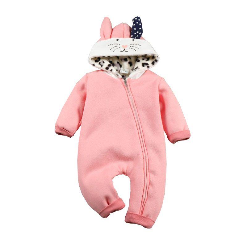 Encontrar Más Monos Información acerca de Mamelucos Del Bebé recién nacido  Con Capucha Buzos Traje Animal 2e8d3dfa5b1