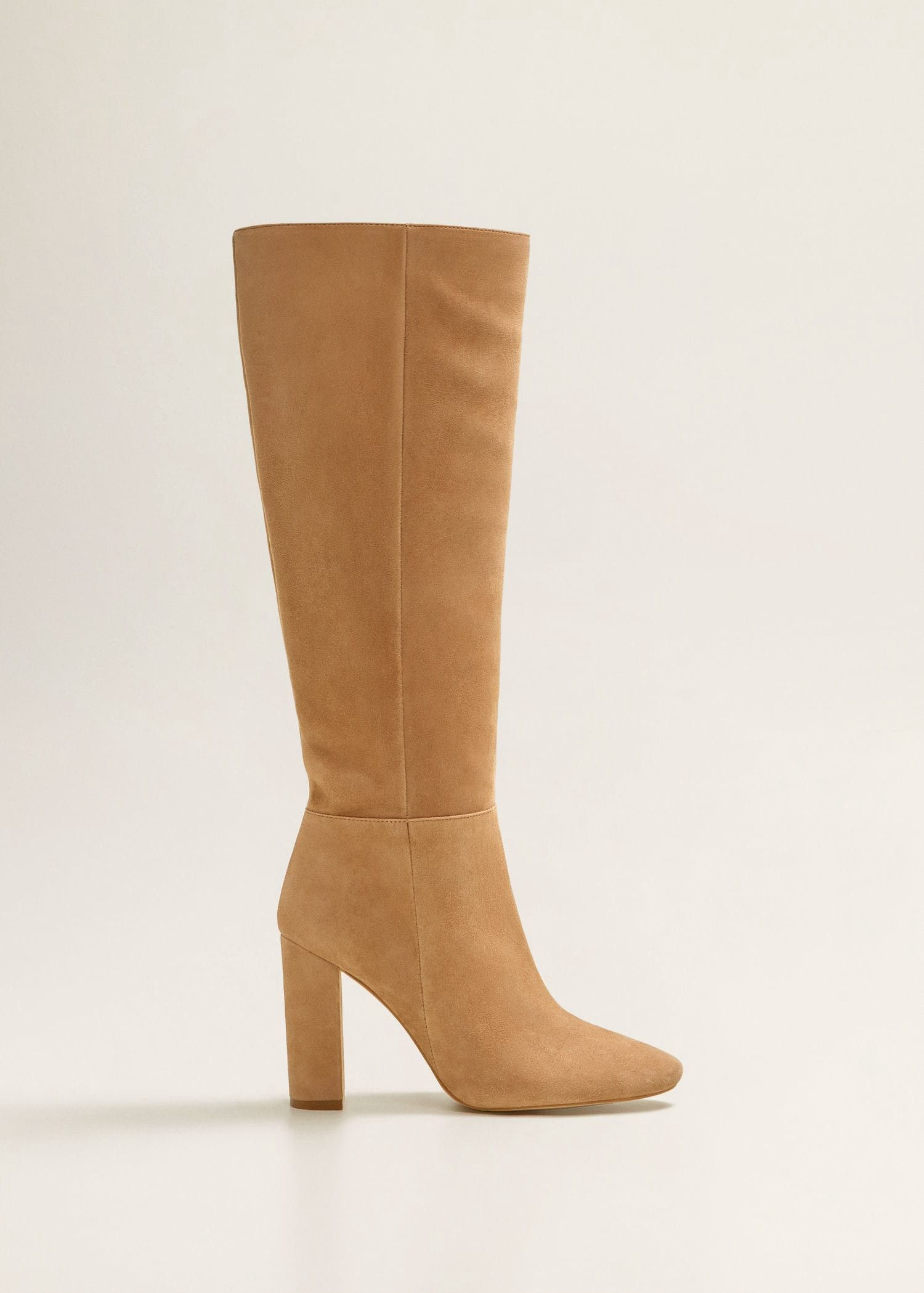 1819cb62cbd Mango Leather High-Leg Boots - 6