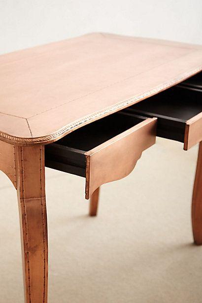 Copper Toned Writing Desk Writing Desk Desk Copper