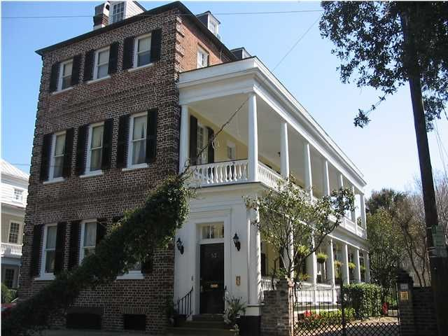 Charleston Sc Facade House Narrow Lot House Plans Charleston Homes