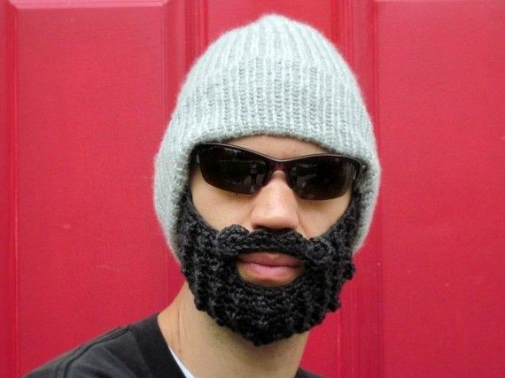 294dd0ef beard beanie hat knit mens boys cap The Original Beard Beanie™ gray ...