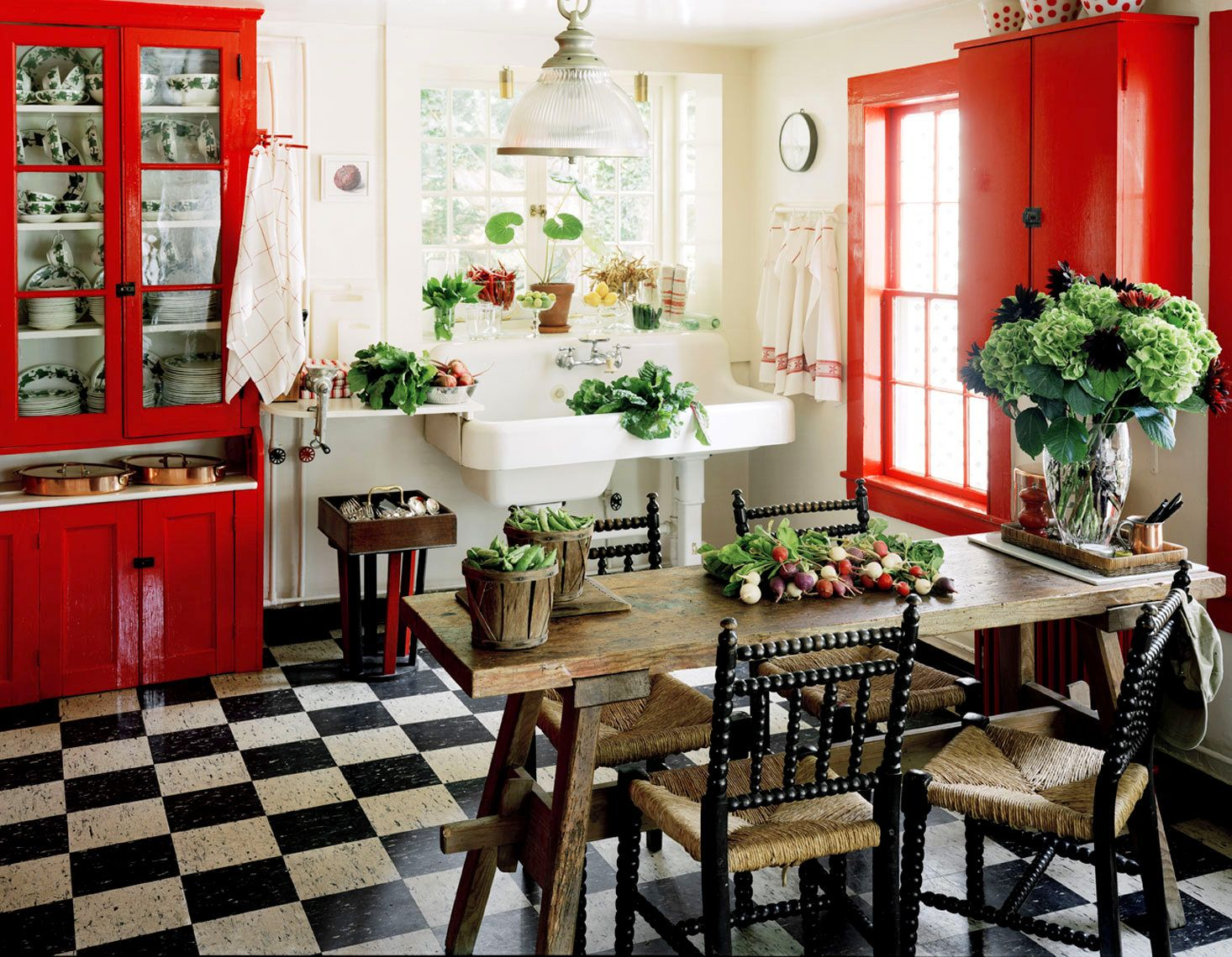 eye catching rustic kitchen cabinets. Adorable Country Kitchen Idea With Rustic Wood Dining Table And Unique Black Chairs White Sink Eye Catching Cabinets C