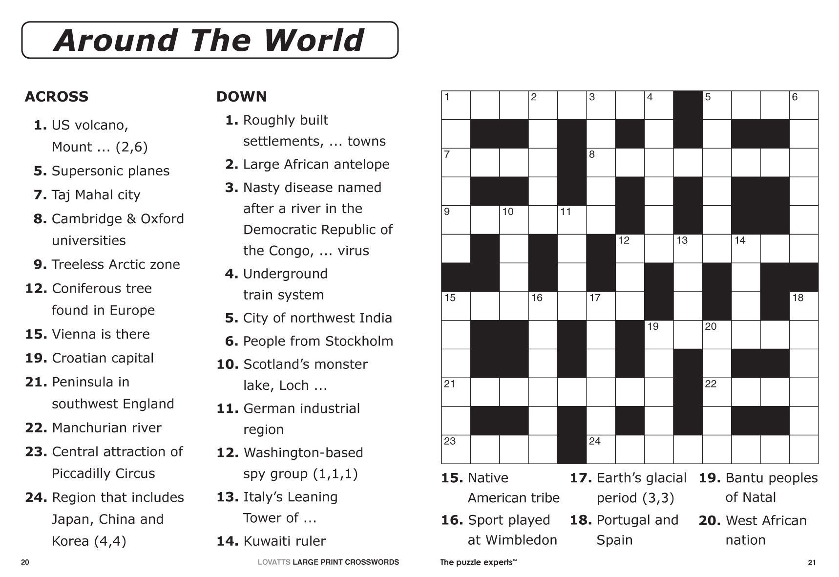 Image result for crosswords Free printable crossword
