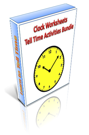 Printable clock worksheets and tell time activities pack. Introduce ...