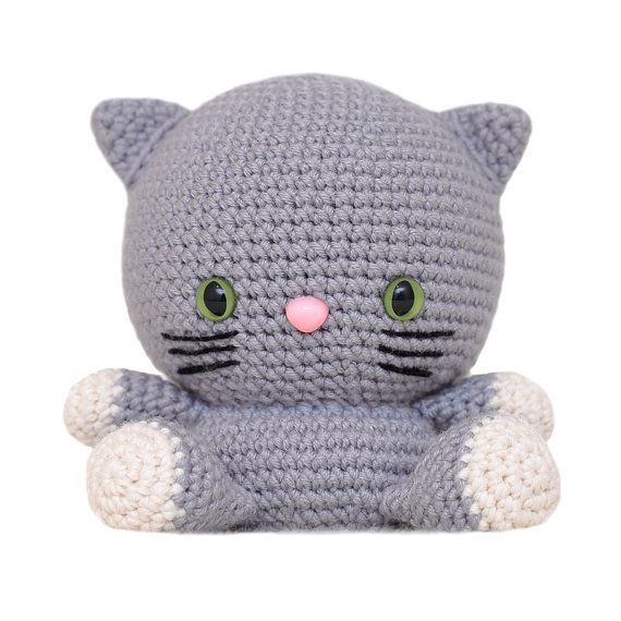 Fat Face Cat Amigurumi Pattern | Mamá | Pinterest | Patrones ...