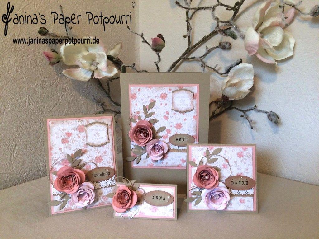 vintage rose hochzeits papeterie karten set einladung. Black Bedroom Furniture Sets. Home Design Ideas