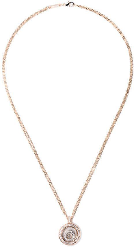 Chopard 18kt rose gold happy spirit pendant diamond necklace chopard 18kt rose gold happy spirit pendant diamond necklace mozeypictures Gallery