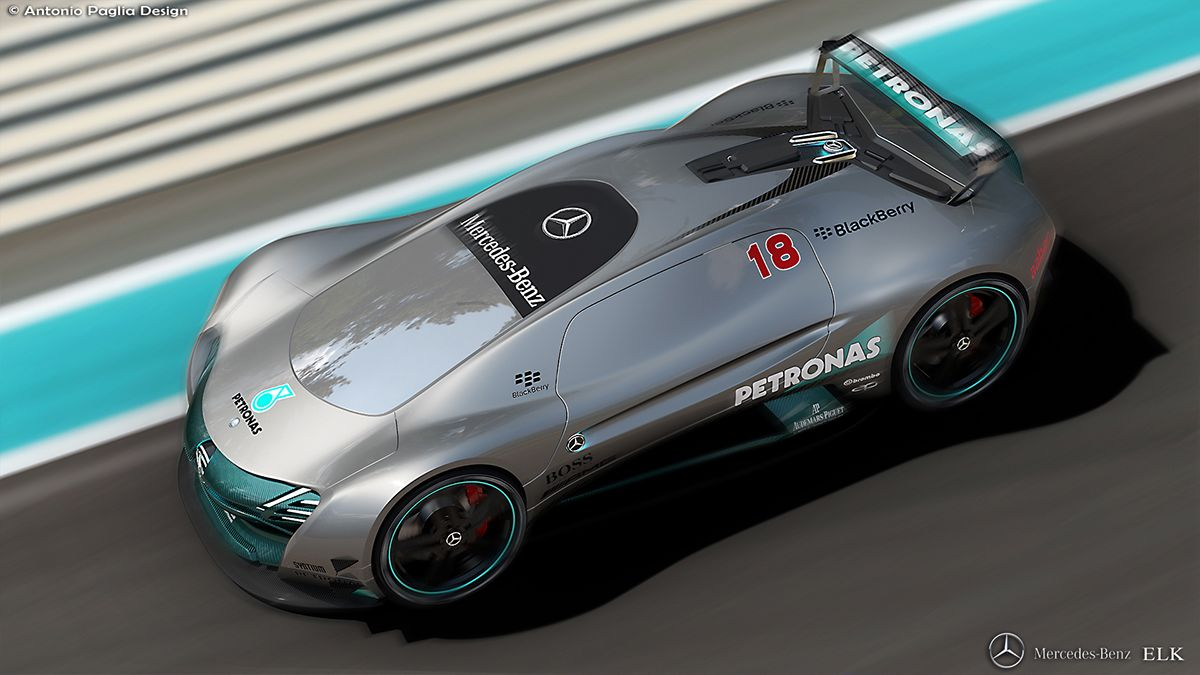 A medium size sport concept car for Mercedes Benz... modelling with Automotive Alias.
