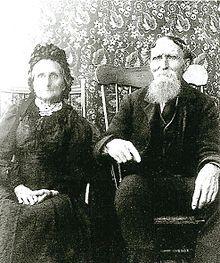 Suzannah Anstey (née Manuel. 1832-1911). Daughter of Beothuk woman called 'Elizabeth' & husband Samuel Anstey (1832-1923).