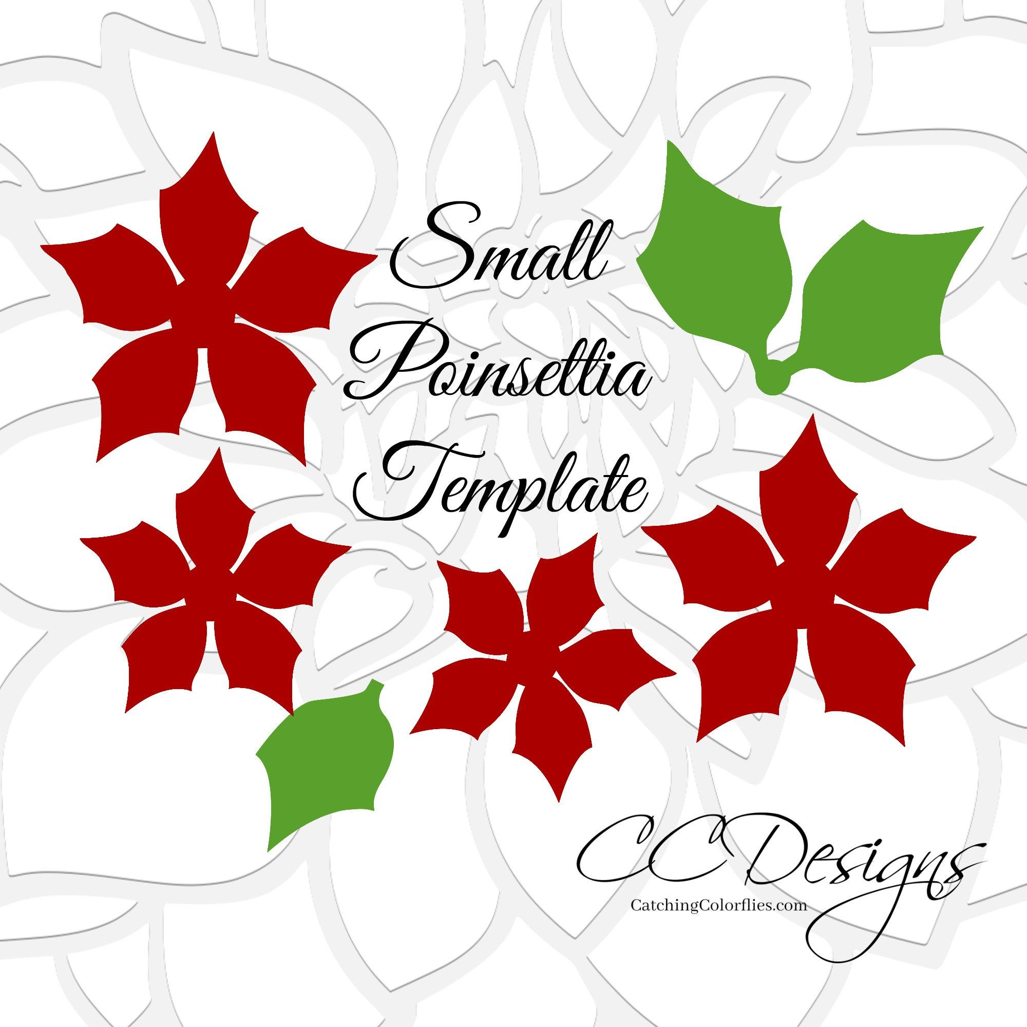 Small and Large Christmas Paper Flower Poinsettia