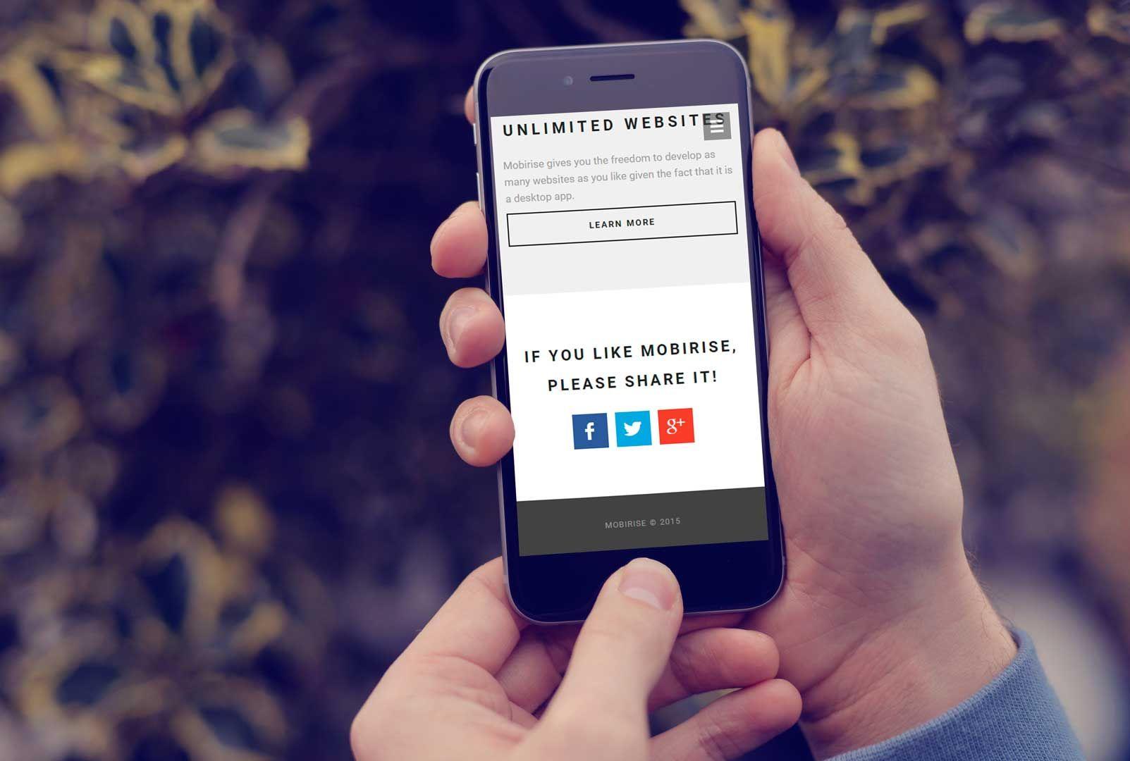 Mobirise Mobile Website Builder Website builder free