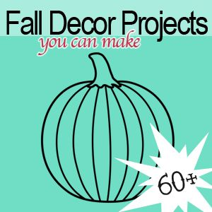 It's time for fall, and with that comes my favorite DIY decor projects. This round-up is full of ways to bring autumn into your decorating, from Halloween pumpkin crafts to Thanksgiving themed printables, and everything in between. I hope you enjoy beautifying your space with inspiration from