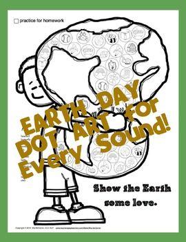EARTH ARTICULATION DOT ART {NO PREP!} - TeachersPayTeachers.com