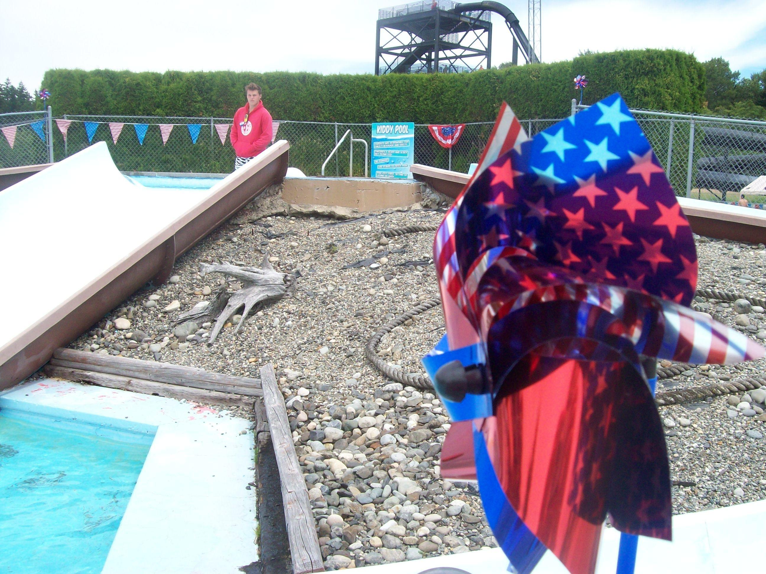 Pinwheels at the kiddie pool!