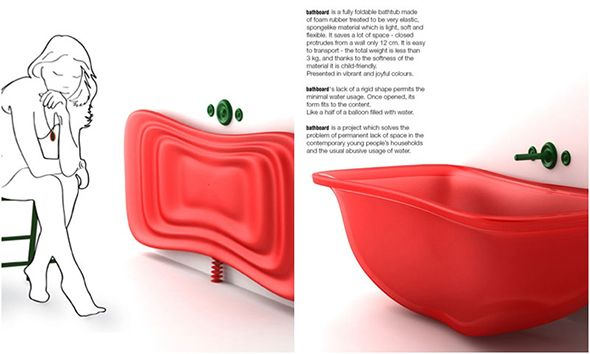Collapsable bathtub. It would only work for me if there was a ...