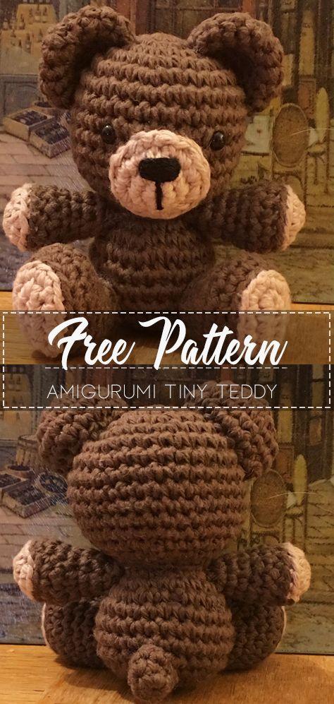Amigurumi Tiny Teddy – Free Pattern #crochetteddybearpattern