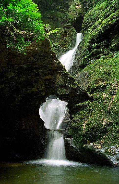 St. Nectan's Glen Waterfalls, Cornwall, England