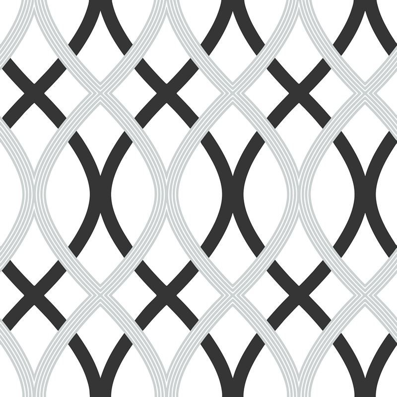 Nu1658 Black And Silver Lattice Peel And Stick By Brewster Nuwallpaper Peel And Stick Wallpaper Wallpaper Samples