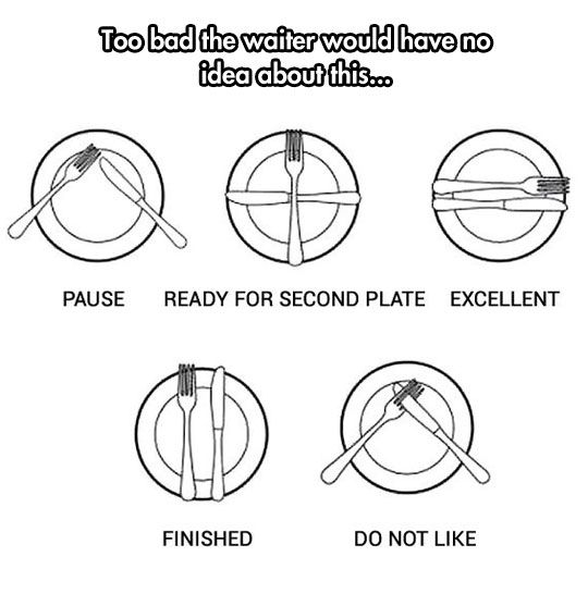 Clever Utensils Funny Table Manners Table Etiquette