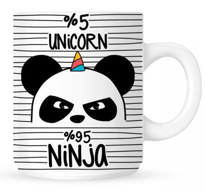 einhorn tasse unicorn ninja unicorn einhorn. Black Bedroom Furniture Sets. Home Design Ideas
