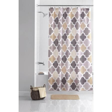 Home Fabric Shower Curtains Ogee Tile Curtain Hooks