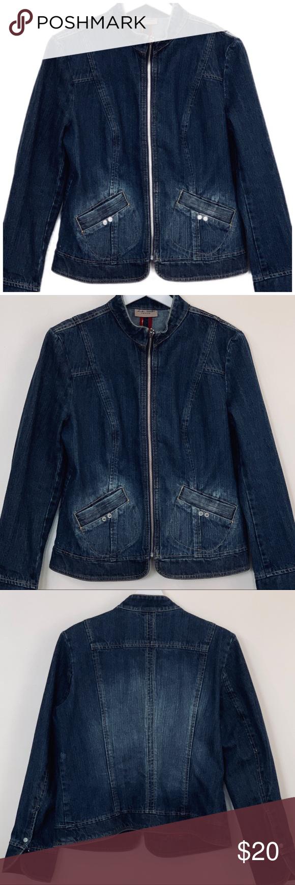 I E Relaxed Petite Large Denim Jacket Denim Jacket Mandarin Collar Women Shopping [ 1740 x 580 Pixel ]