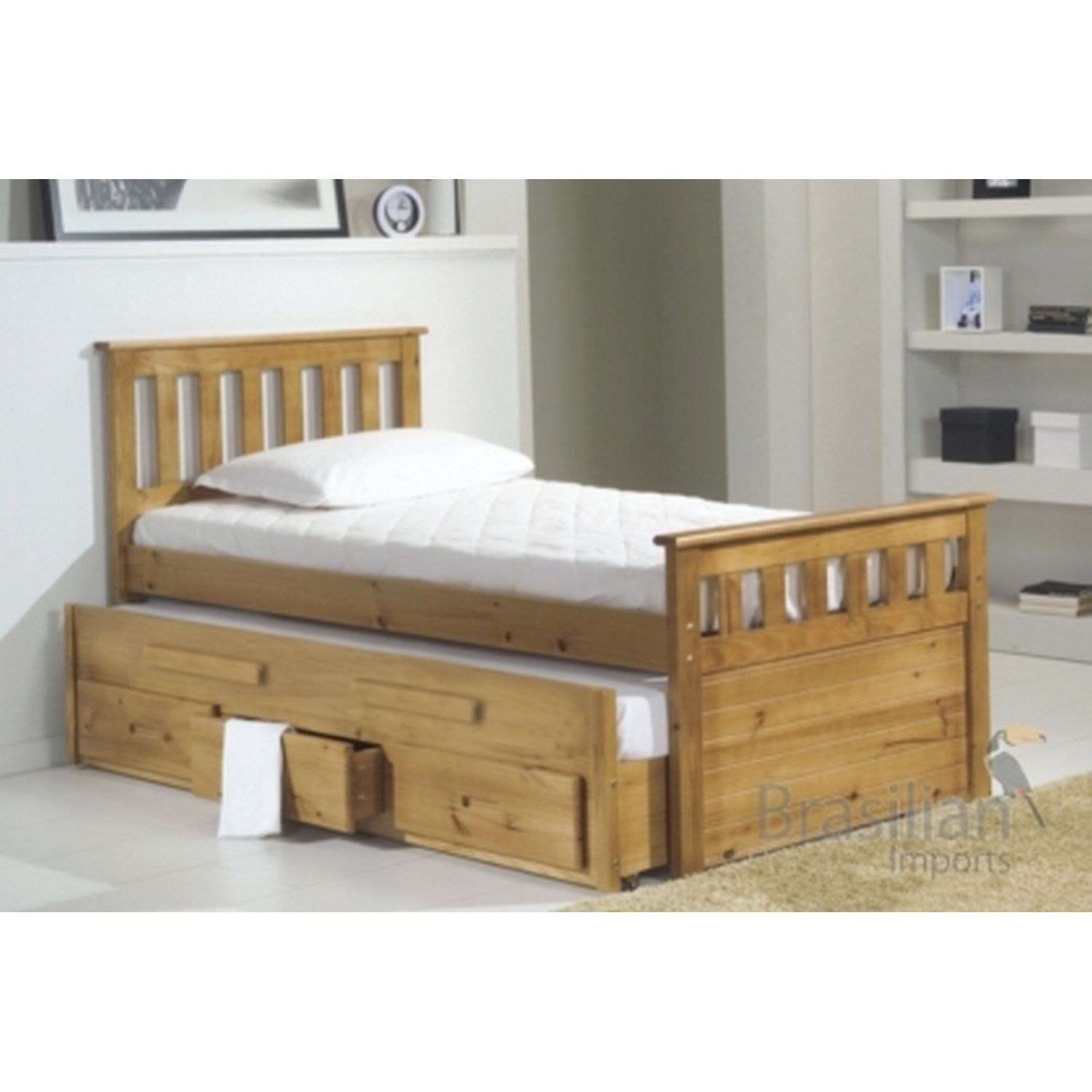 The Bergamo Captains Bed Is Made Of Solid Pine With Pull Out