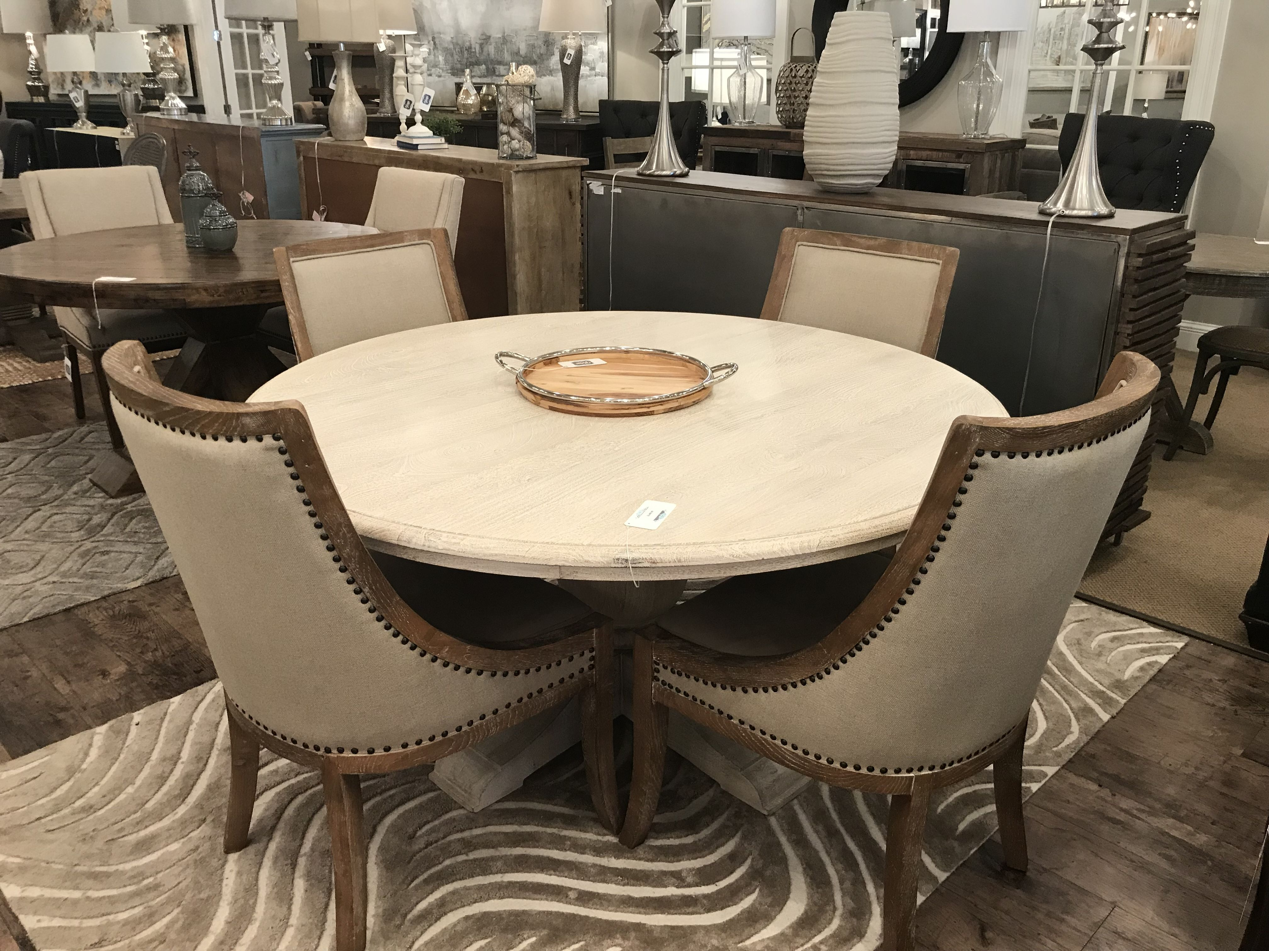 Terme 60 Round Dining Table Antique White 1 299 99 60 Round