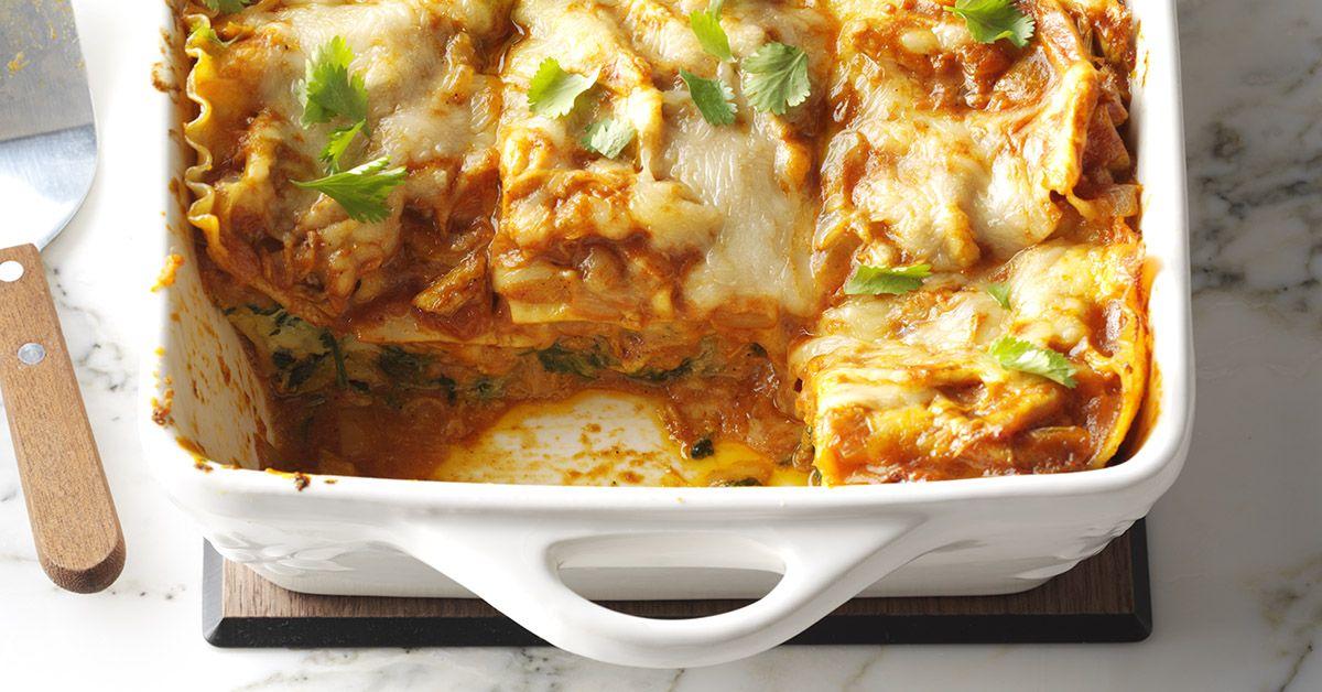 Chicken Curry Lasagna Recipe Indian Lasagna Recipe Taste Of Home Lasagna Recipe Curry Chicken