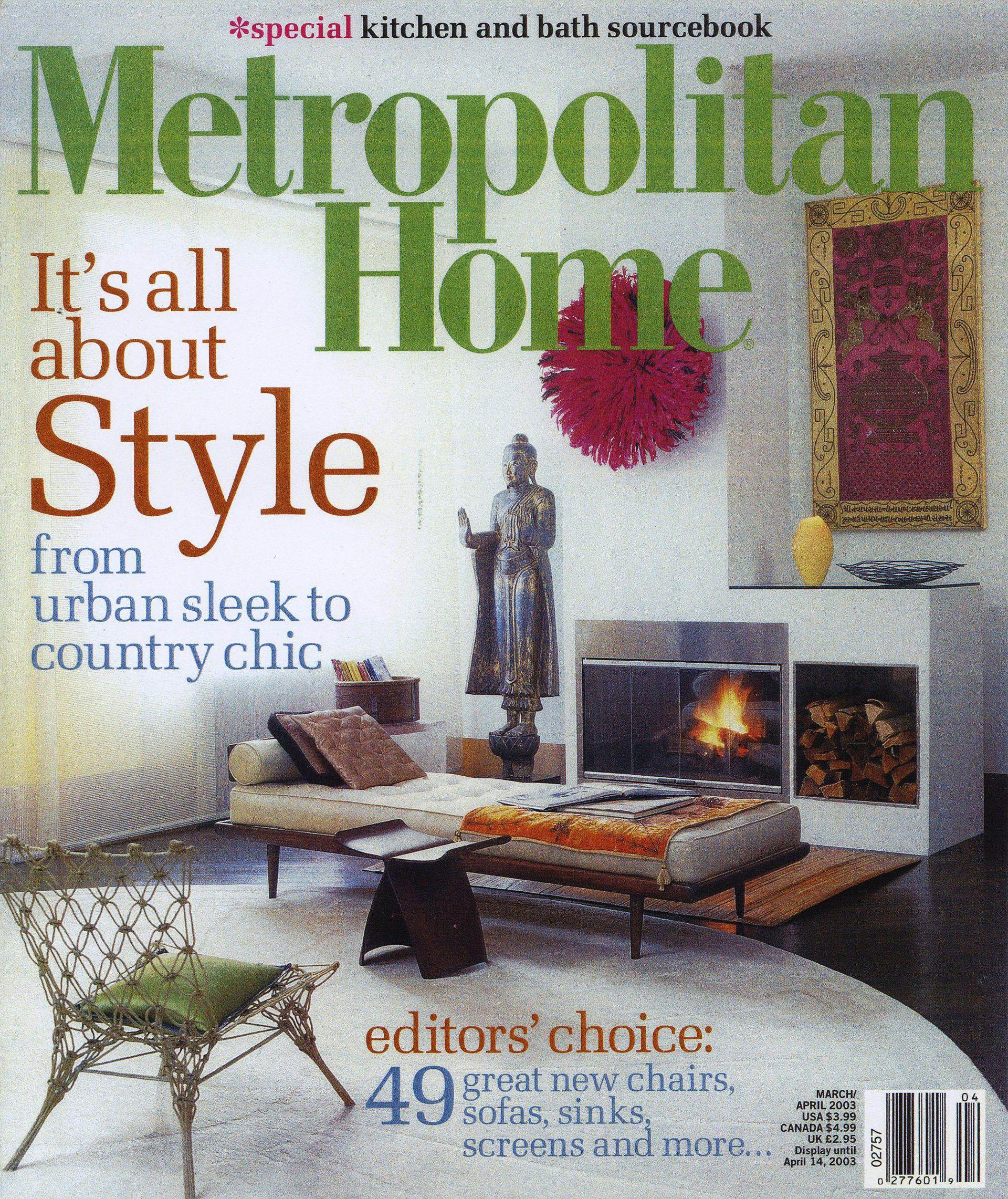 """Metropolitan Home"", March/April 2003 | Magazin covers ..."
