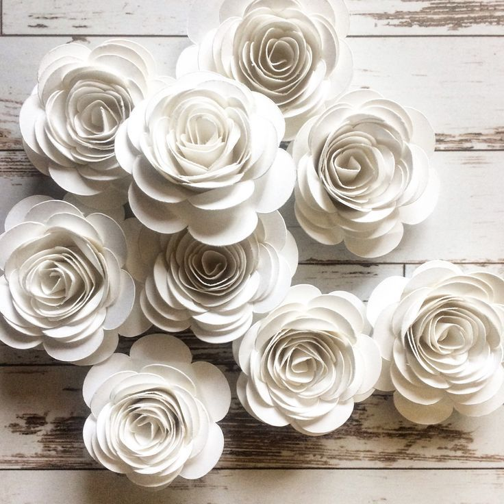 Paper Flowers, Garden Wedding Table Decor, Loose Paper Flowers ...