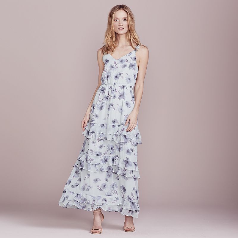 a488d60c0 LC Lauren Conrad Dress Up Shop Collection Ruffle Maxi Dress - Women's,  Light Grey