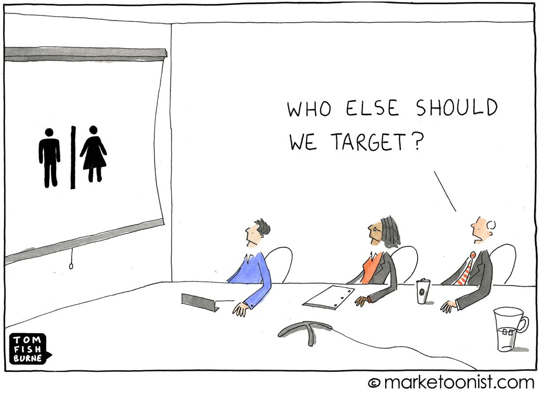 Target Market Cartoon  Ad