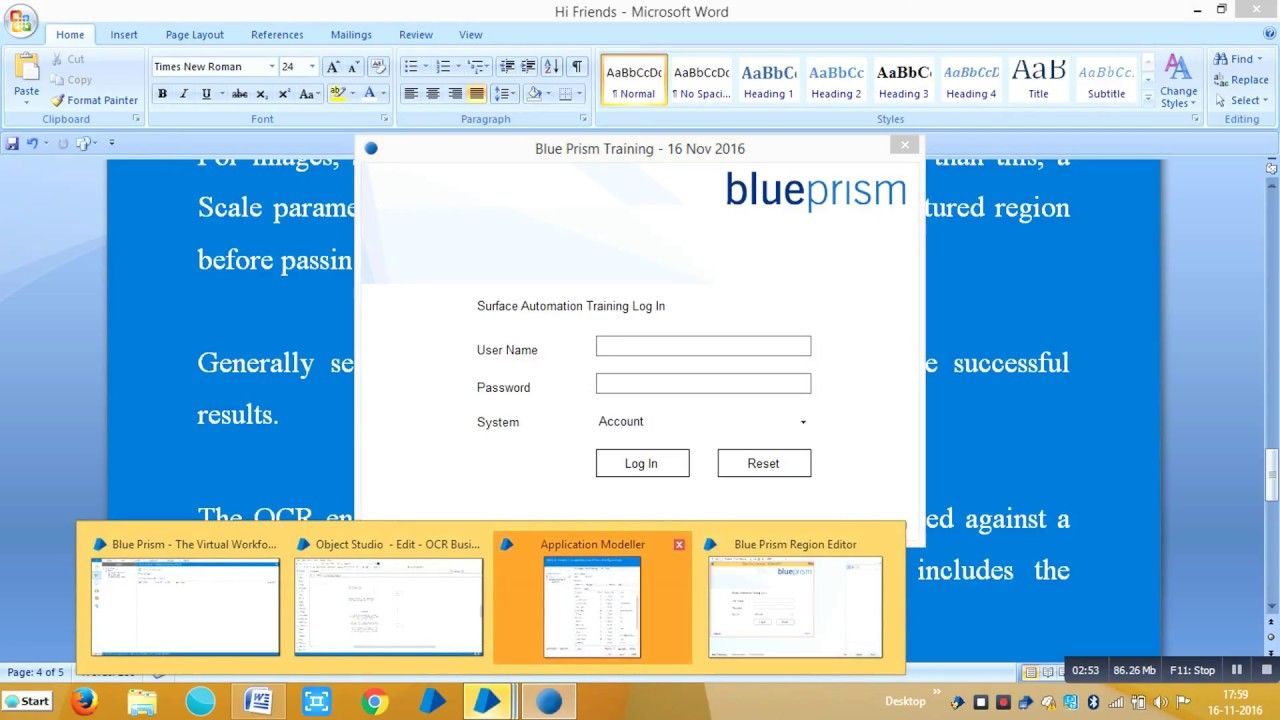BluePrism Optical Character Recognition (OCR) - Aditya RPA Academy