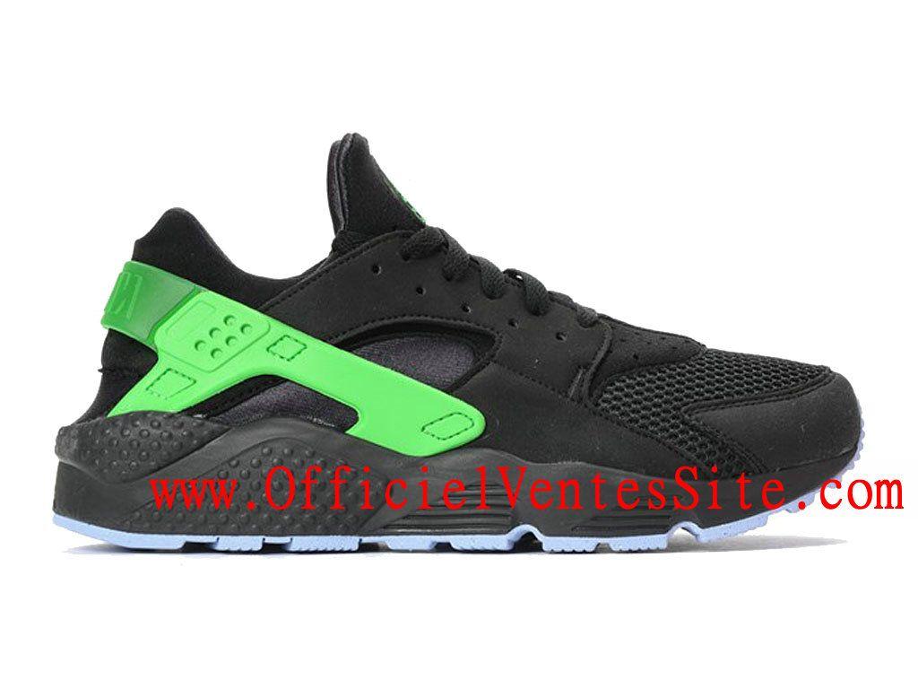 premium selection 13de9 6e34b Nike Air Huarache Run FB Chaussure Nike Sportswear Pas Cher Pour Homme Noir  Vert 705070-001