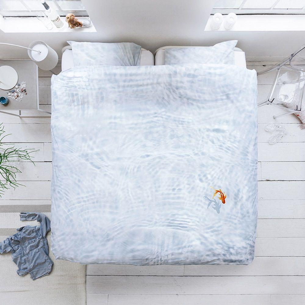 Quirky Bed Linen Part - 20: SNURK Goldfish Duvet Bedding Set | A Unique Bed Linen Set With Quirky  Photographic Print