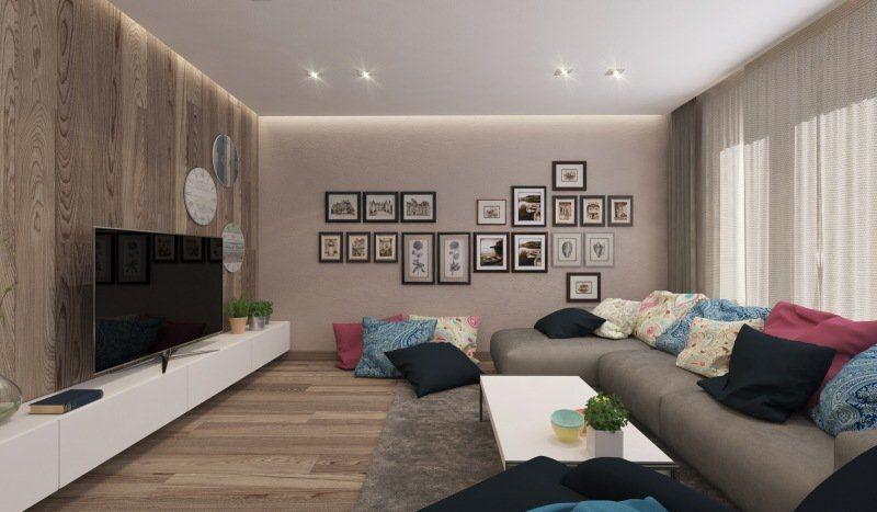 Exceptionnel Idée Déco Salon Ambiance Zen En Gris Clair Et Marron Belles Idees