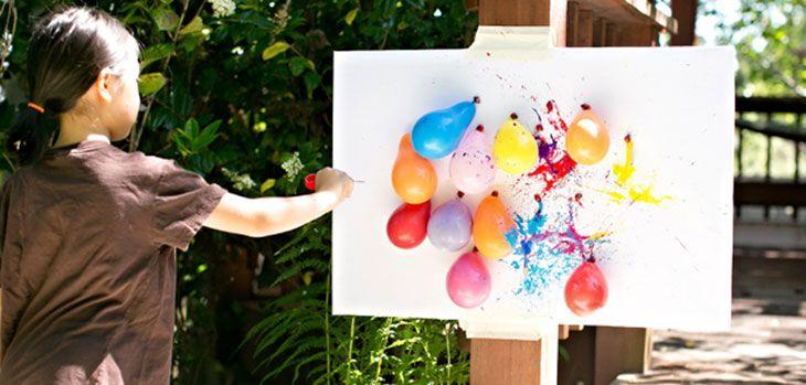 Juegos con pintura para ni os juegos fiestas de for Color de pintura al aire libre casa moderna
