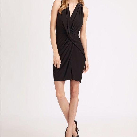 Haute hippie sexy black crisscross dress