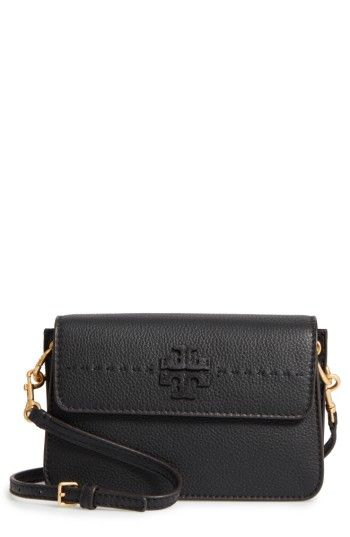 4a4af599ca1 TORY BURCH TORY BURCH MCGRAW LEATHER SHOULDER BAG - BLACK.  toryburch  bags   shoulder bags  leather