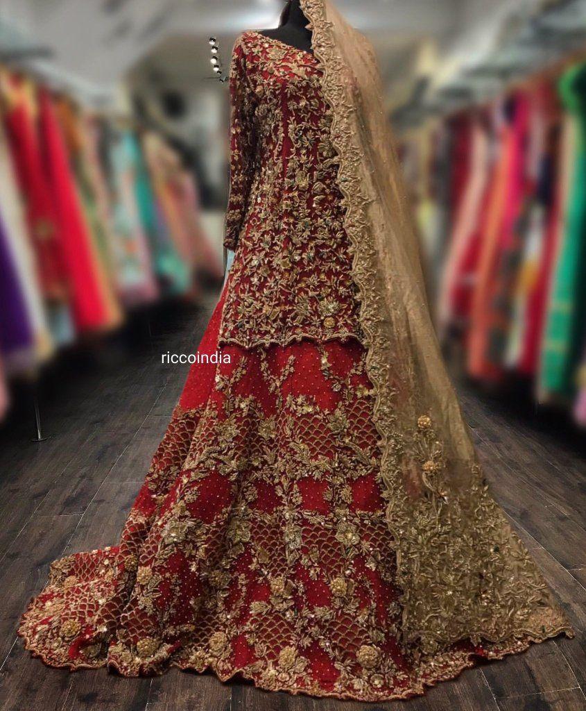Haus Khas Lehenga Shopping Guide With Prices Bridal Lehenga Red Pakistani Bridal Lehenga Red Bridal Dress